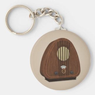 Vintage Antique Radio Keychain