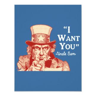 Vintage Antique Red Uncle Sam Independence July 4 Card