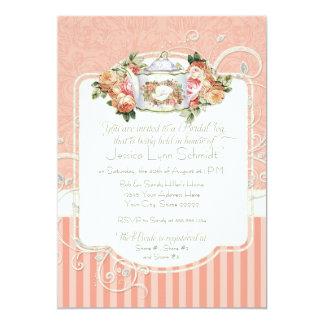 Vintage Antique Roses Floral Bouquet Modern Swirls 13 Cm X 18 Cm Invitation Card