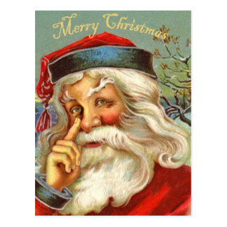 Vintage Antique Santa Christmas Postcard