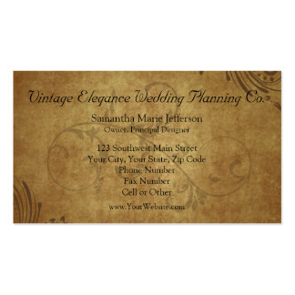 Vintage Antique Teastain Swirl Business Cards