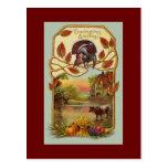 Vintage Antique Thanksgiving Greetings Postcard