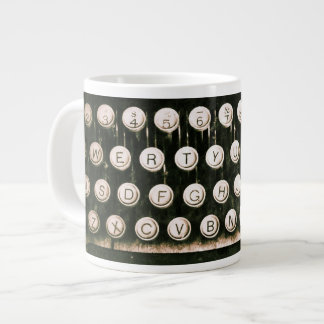 Vintage Antique Typewriter Jumbo Mug