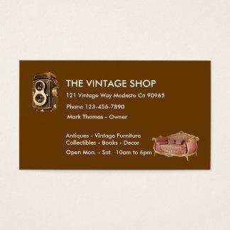 Vintage Antiques Business Cards