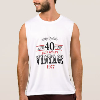 Vintage Any Age and Year Birthday Singlet