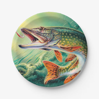Vintage any purpose or fish fry party plate