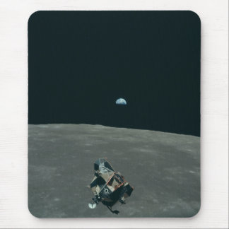 Vintage Apollo 11 Moon Mission Eagle's Ascent Mouse Pad