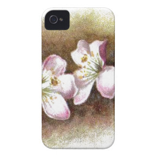Vintage Apple Blossom Flowers iPhone 4 Case-Mate Cases