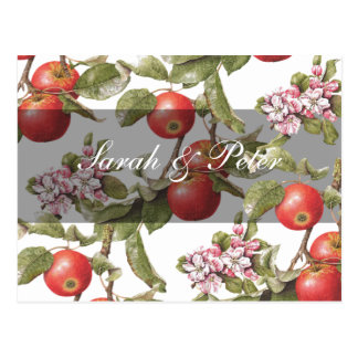 Vintage Apple Blossom Save-the-Date Post Card