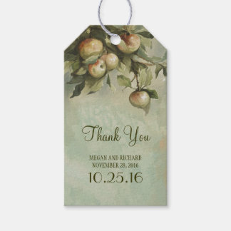 Vintage Apple Tree Wedding Thank You Gift Tags