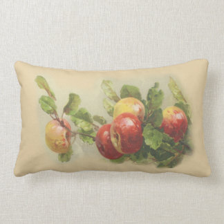 Vintage apples lumbar pillow