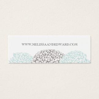 Vintage Aqua Zinnia Flowers Wedding Website Cards