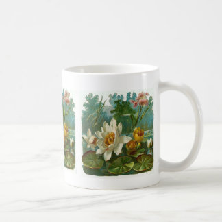 Vintage, Aquatic Flower, Wife Birthday Coffee Mug