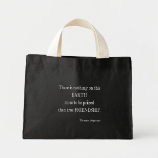 Vintage Aquinas Friendship Inspirational Quote Mini Tote Bag