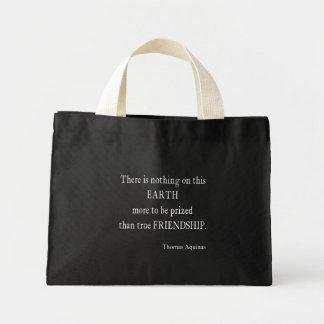 Vintage Aquinas Friendship Inspirational Quote Mini Tote Bag