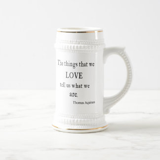 Vintage Aquinas  Love Inspirational Quote / Quotes Beer Stein