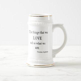 Vintage Aquinas  Love Inspirational Quote / Quotes Mugs