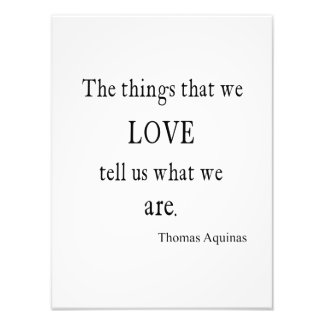 Vintage Aquinas Love Inspirational Quote / Quotes Photo Print