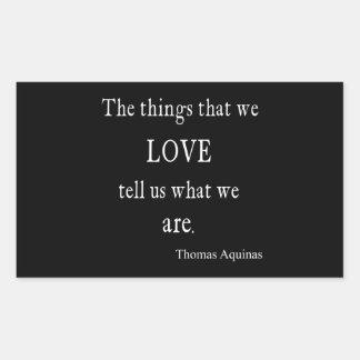 Vintage Aquinas Love Inspirational Quote / Quotes Rectangular Sticker