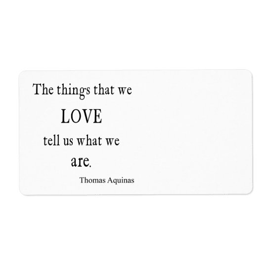 Vintage Aquinas  Love Inspirational Quote / Quotes Shipping Label