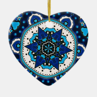 Vintage ARABIC tile Iznik, Turkey, 16th century Ceramic Heart Decoration