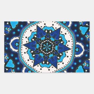 Vintage ARABIC tile Iznik, Turkey, 16th century. Rectangular Sticker