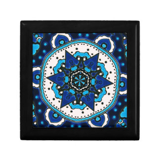 Vintage ARABIC tile Iznik, Turkey, 16th century. Small Square Gift Box