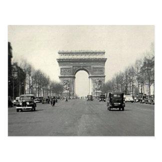Vintage Arc de Triomphe  France Postcard
