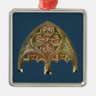 Vintage Architectural Element, Decorative Arches Silver-Colored Square Decoration
