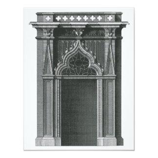 Vintage Architectural Element, Gothic Doorway Custom Invites