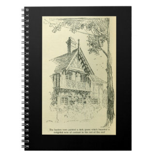 Vintage Architectural Sketch of a House Notebook