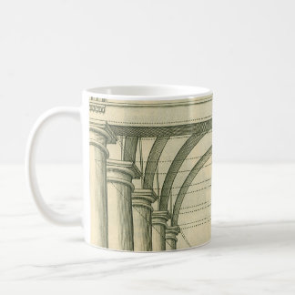 Vintage Architecture, Arches Columns Perspective Coffee Mug