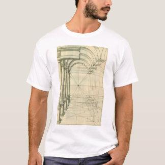 Vintage Architecture, Arches Columns Perspective T-Shirt