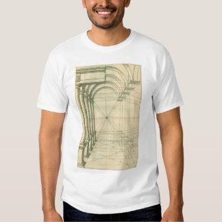 Vintage Architecture, Arches Columns Perspective Tshirt