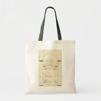 Vintage Architecture, Arches Perspecitve Budget Tote Bag