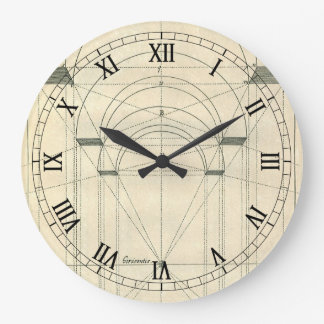 Vintage Architecture, Arches Perspecitve Wall Clocks