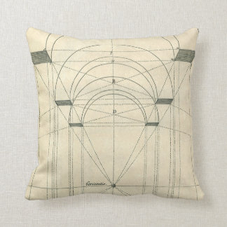Vintage Architecture, Arches Perspecitve Throw Pillow