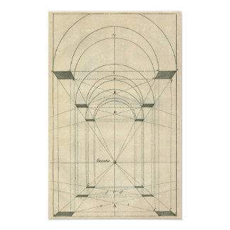 Vintage Architecture, Arches Perspecitve Posters