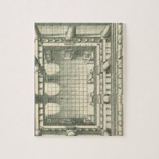 Vintage Architecture, Atrium Courtyard Perspective Jigsaw Puzzle