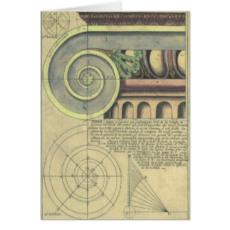 Vintage Architecture; Capital Volute by Vignola Card