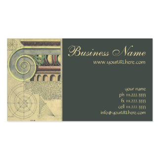 Vintage Architecture; Capital Volute by Vignola Pack Of Standard Business Cards