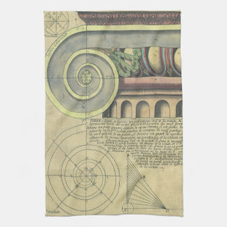 Vintage Architecture; Capital Volute by Vignola Hand Towel