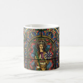 Vintage Architecture, Church Stained Glass Window Coffee Mug