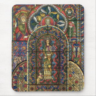 Vintage Architecture, Church Stained Glass Window Mouse Pad