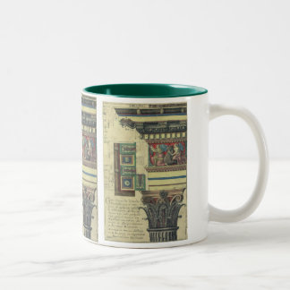 Vintage Architecture, Column with Cornice Moulding Two-Tone Coffee Mug