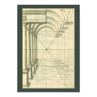 Vintage Architecture, Columns Arches Perspective Cards