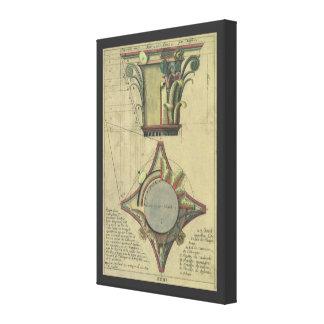 Vintage Architecture, Decorative Capital Crown Canvas Print