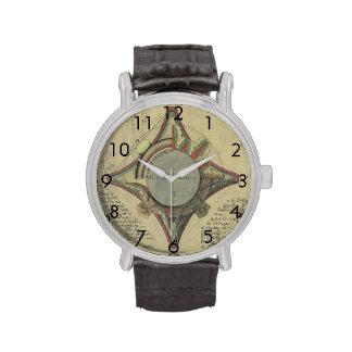 Vintage Architecture, Decorative Capital Crown Wrist Watch