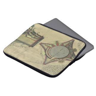 Vintage Architecture Decorative Capital Crown Laptop Sleeves