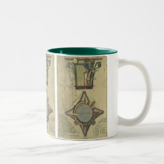 Vintage Architecture, Decorative Capital Crown Coffee Mugs